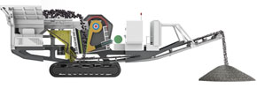 tracked mobile jaw crushing plant