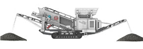 tracked mobile screening crushing plant